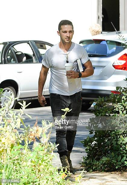 Shia LaBeouf is seen on July 07 2014 in Los Angeles California
