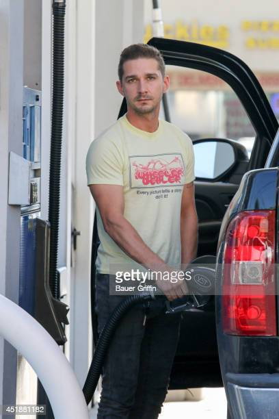 Shia LaBeouf is seen on July 08 2014 in Los Angeles California