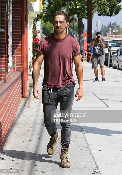 Shia Labeouf is seen on July 10 2014 in Los Angeles California