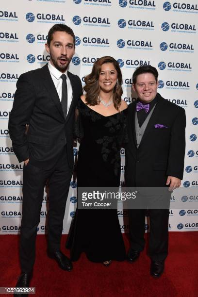 Shia LaBeouf Michelle Sie Whitten and Zack Gottsagen at the Global Down Syndrome 10th anniversary BBBY fashion show at Sheraton Denver Downtown Hotel...