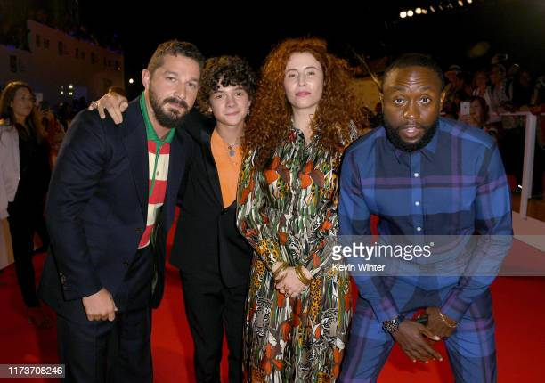 Shia LaBeouf Noah Jupe Byron Bowers and Alma Har'el attend the Honey Boy premiere during the 2019 Toronto International Film Festival at Roy Thomson...