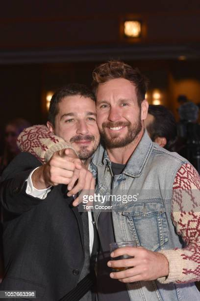 Shia LaBeouf with Tyler Nilson at the Global Down Syndrome 10th anniversary BBBY fashion show at Sheraton Denver Downtown Hotel on October 20 2018 in...