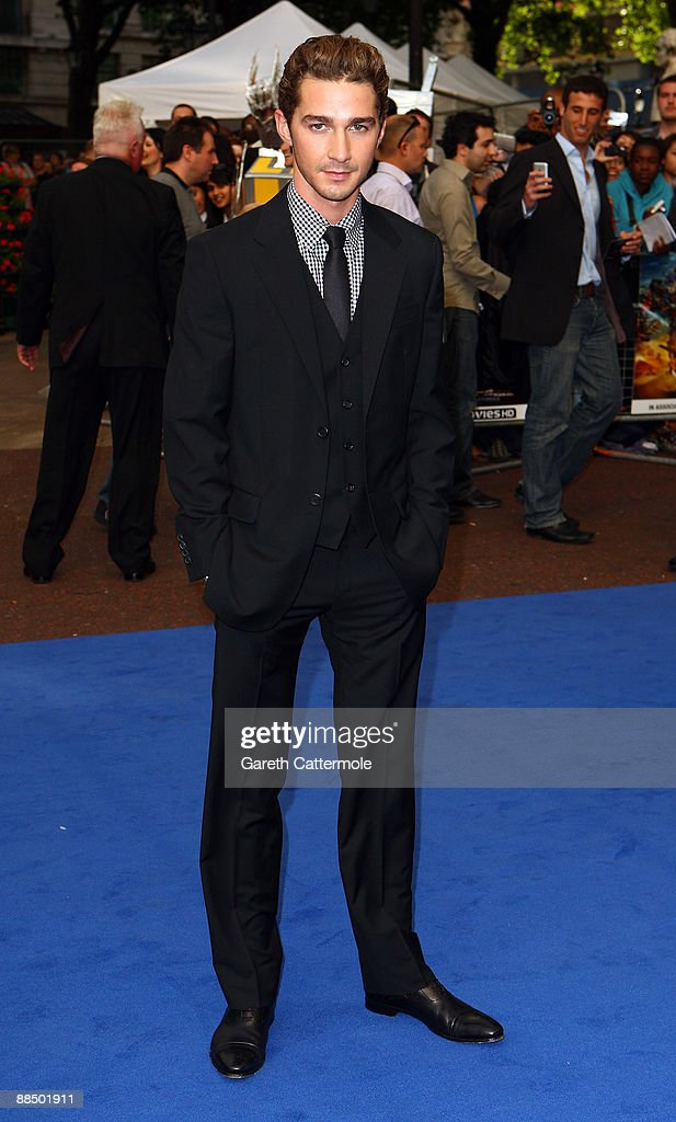 Shia LaBouef arrives at the Transformers: Revenge of the Fallen premiere at Odeon Leicester Square on June 15, 2009 in London, England.