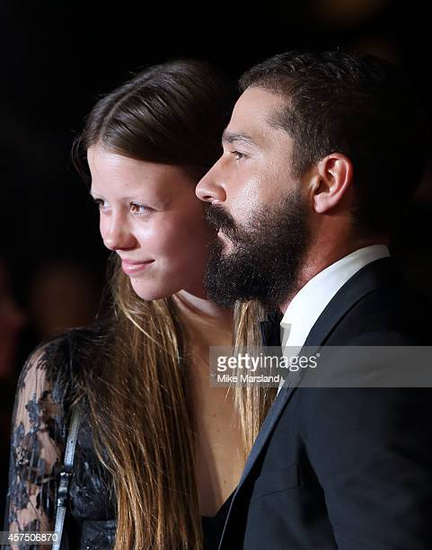 Shia LeBeouf attends the closing night Gala screening of Fury during the 58th BFI London Film Festival at Odeon Leicester Square on October 19 2014...