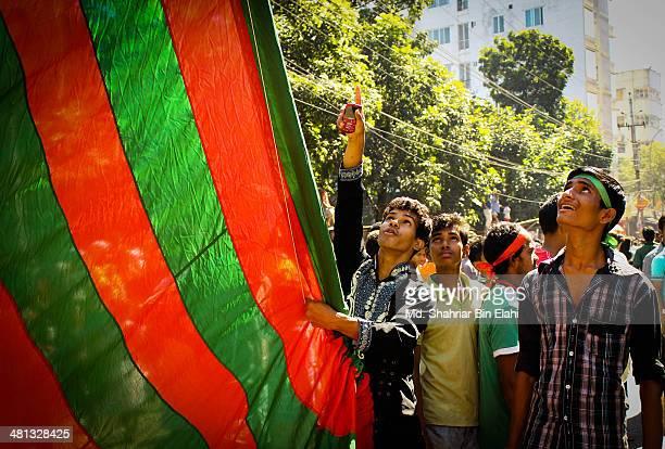 Shia Muslim boys preparing for the Ashura procession. Dhaka, Bangladesh 2013