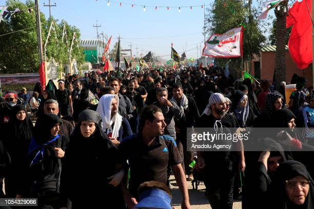 Shia Muslims from different parts of the world arrive in Iraqs southern city of Karbala for Arbaeen the last day of the 40day mourning period that...