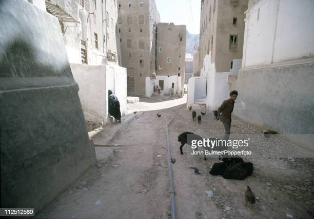 Shibam a town built of mud brick towers in South Yemen circa 1977