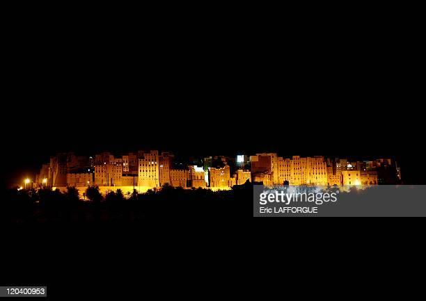 Shibam by night in Yemen
