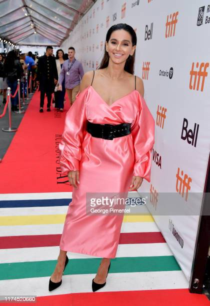 Shibani Dandekar attends The Sky Is Pink premiere during the 2019 Toronto International Film Festival at Roy Thomson Hall on September 13 2019 in...