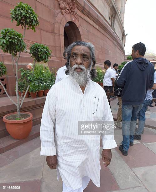 Shibu Soren Lok Sabha MP of Jharkhand during the Parliament Budget Session on March 10 2016 in New Delhi India Rajya Sabha passed the much awaited...