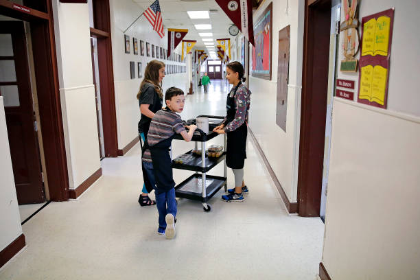 special needs students serve up coffee learn life skills pictures