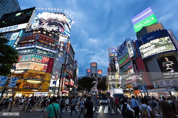 渋谷のセンター街に東京,日本