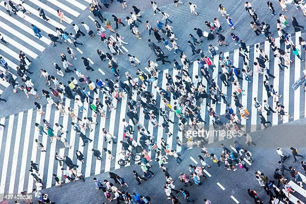 Carrefour de Shibuya vue aérienne