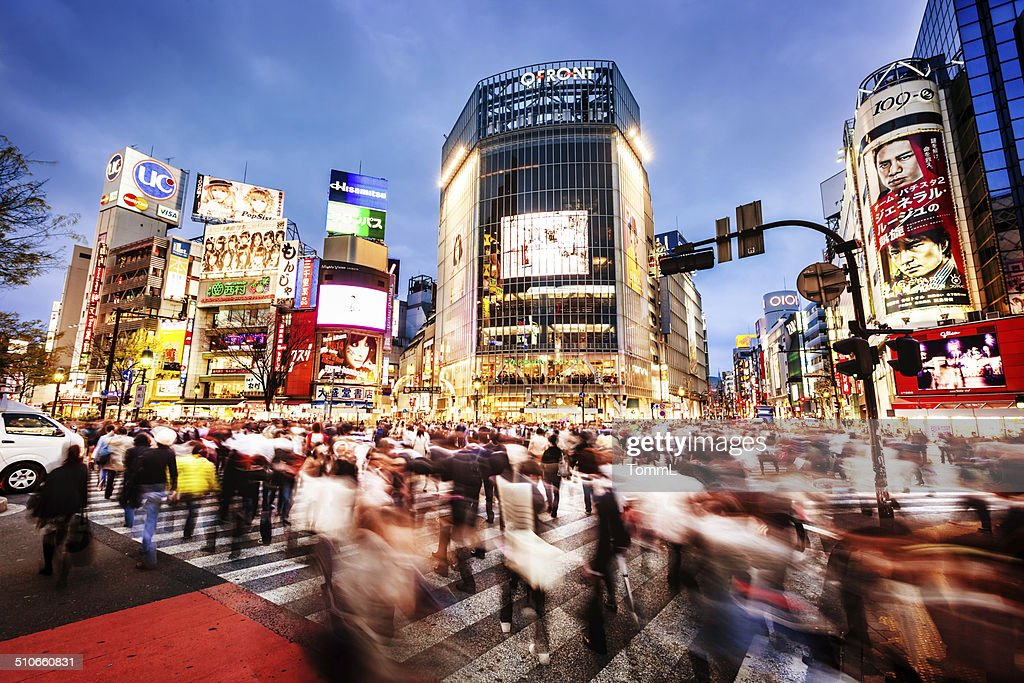 Shibuya Crossing In Tokyo, Japan : Stock Photo
