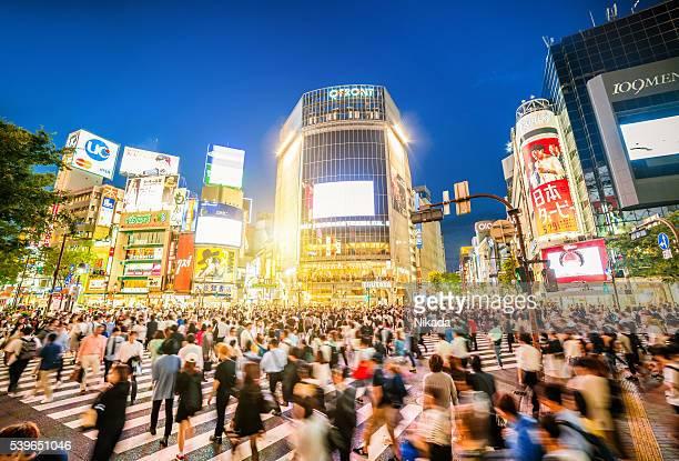 Carrefour de Shibuya à Tokyo, Japon