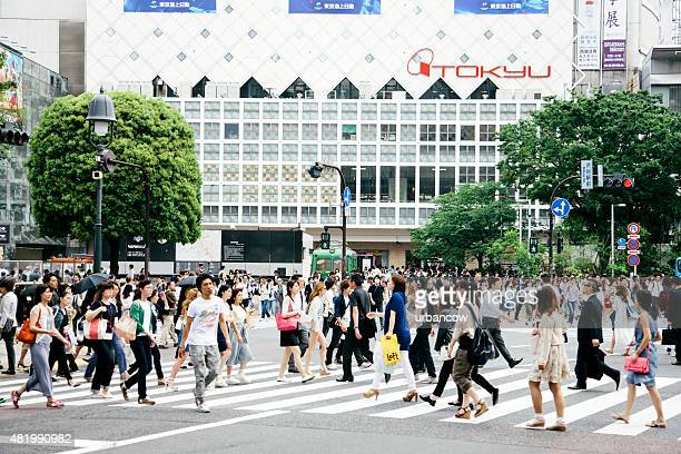 渋谷スクランブル交差点、歩行者横断は、ストリートレベル