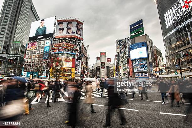 shibuya in tokyp - editorial stock pictures, royalty-free photos & images