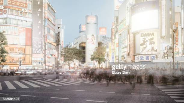 Shibuya Street with blur people