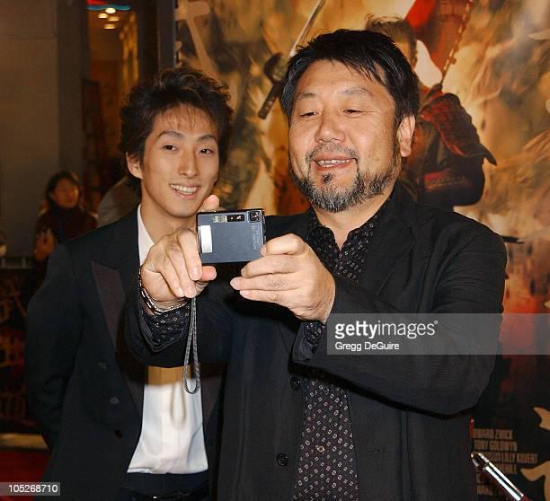 "Shichinosuke Nakamura and Masato Harada during ""The Last Samurai"" Los Angeles Premiere at Mann Village Theatre in Westwood, California, United States."