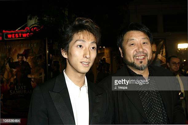 "Shichinosuke Nakamura and Masato Harada during ""The Last Samurai"" Los Angeles Premiere - Red Carpet at Mann National in Westwood, California, United..."