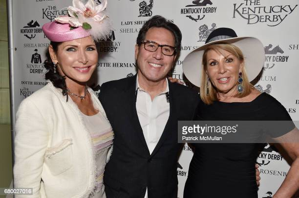 Shiela Rosenblum Dr Howard Sobel and Dottie Herman attend the Kentucky Derby Party New York City at Le Cirque on May 6 2017 in New York City