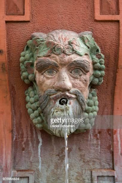 Shield keeper fountain, Ettlingen, Black Forest, Baden-Wuerttemberg, Germany