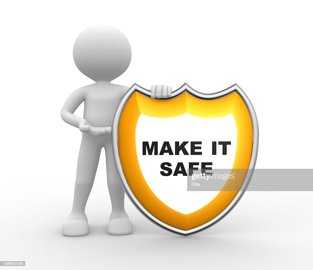 Protector. Hacen CAJA FUERTE : Foto de stock