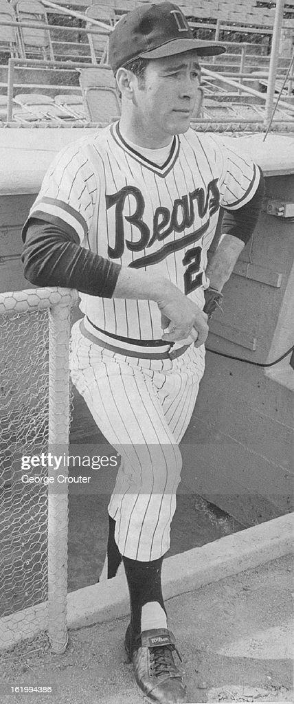 MAR 14 1972; Shifflett Models Bears' New Uniform; Garland Shifflett, American Association's pitcher  : News Photo