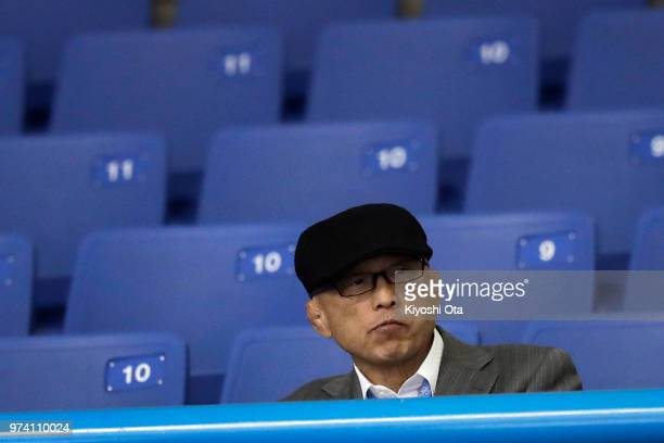 Shigakkan University wrestling team coach and former development director at Japan Wrestling Federation Kazuhito Sakae is seen on day one of the All...