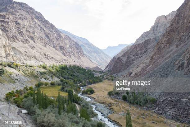 Shigar Pakistan 29 September 2018 A view of the Shigar Valley It is one of the most beautiful valleys in the surrounding of Skardu