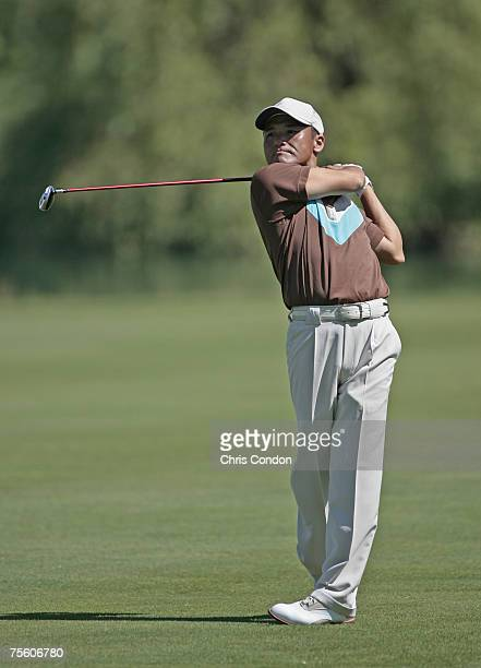 Shigeki Maruyama during the first round of the Travelers Championship held at TPC River Highlands in Cromwell Connecticut on June 21 2007
