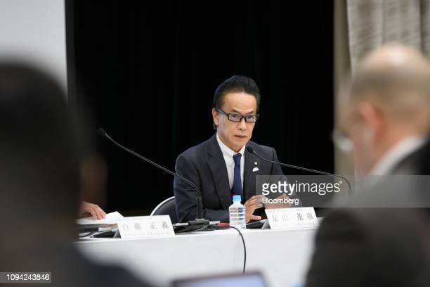 Shigeki Tomoyama executive vice president of Toyota Motor Corp speaks during a news conference in Tokyo Japan on Wednesday Feb 6 2019 Toyota cut its...