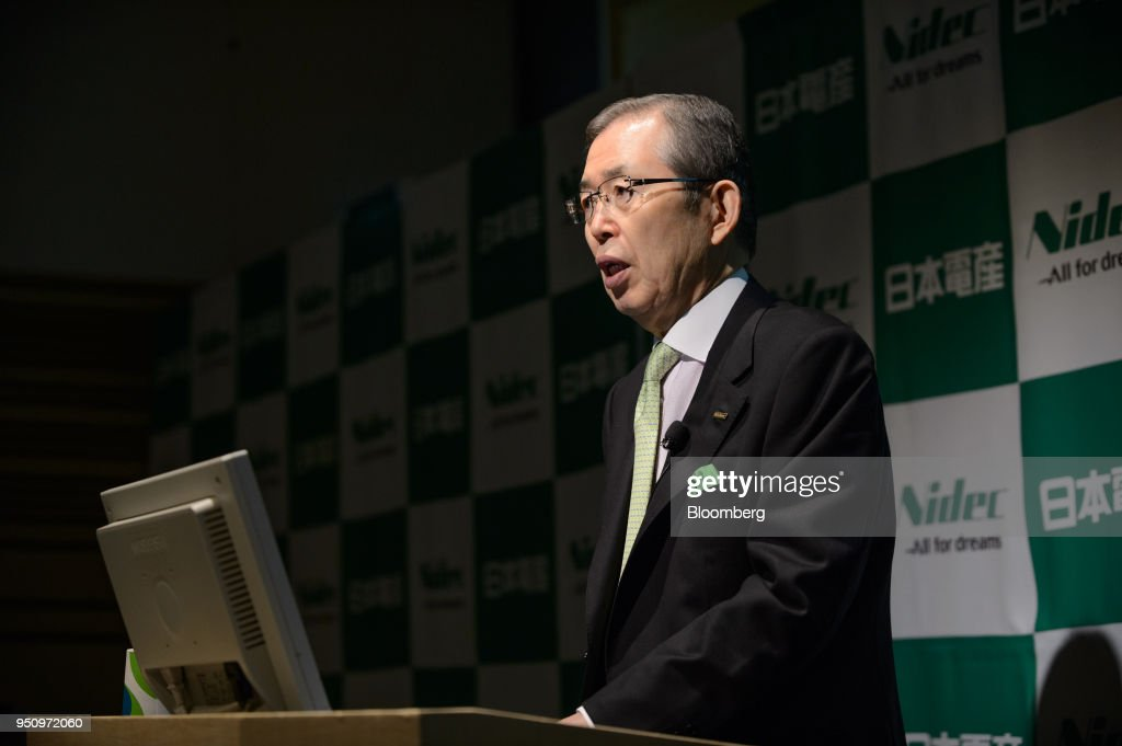 Nidec Corp. Chairman And CEO Shigenobu Nagamori Holds News Conference
