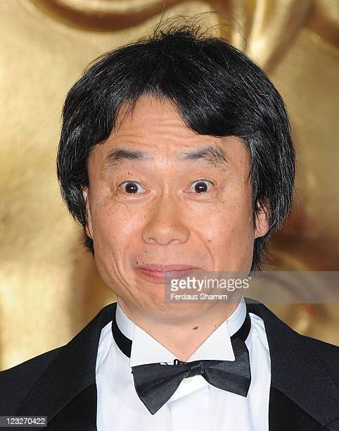 Shigeru Miyamoto attends the BAFTA Video Games Awards at London Hilton on March 19 2010 in London England