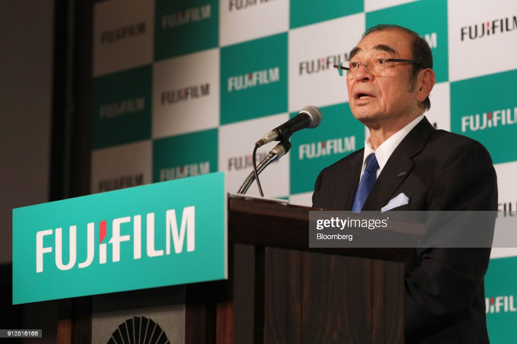 Shigetaka Komori Chairman And Chief Executive Officer Of Fujifilm Holdings Corp Speaks During