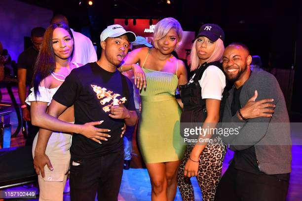 Shiggy Karen CivilKhadi Don and Carey Boy attend PREMIX Hosted By Connie Orlando at The Sunset Room on June 20 2019 in Los Angeles California
