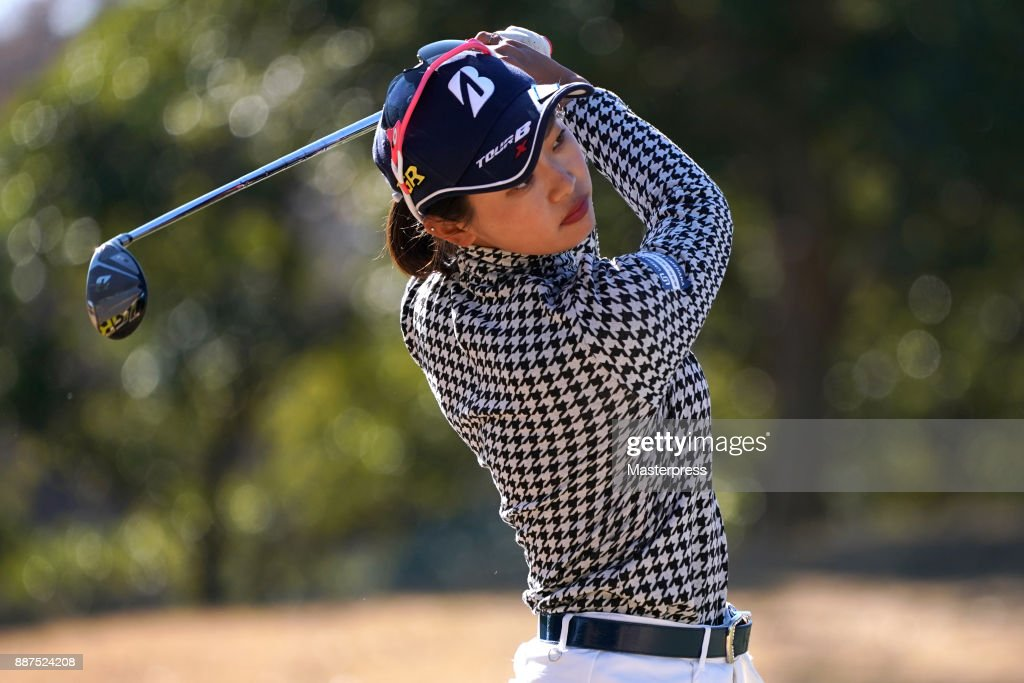Shiho Kawasaki of Japan shots during the first round of the LPGA Rookie Tournament at Great Island Club on December 7, 2017 in Chonan, Chiba, Japan.
