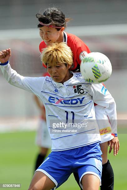 Shiho Ogawa of Iga FC Kunoichi in action during the Nadeshiko League match between Urawa Red Diamonds Ladies and Iga FC Kunoichi at the Urawa Komaba...