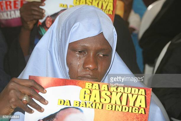 Shi-iites sect women reacts during a peaceful protest over illegal detention of El-Zazzaky and children in Kaduna, Nigeria on 5th Juanuary, 2016.