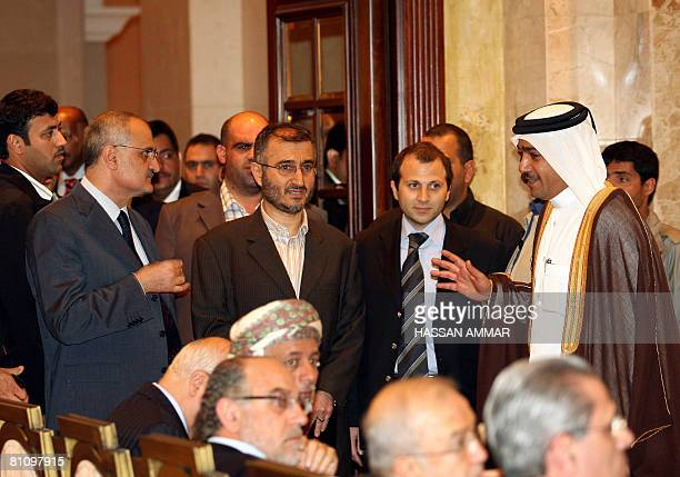 Shiite Amal party deputy Ali Hassan Khalil Hajj Hussein Khalil political advisor of Hezbollah Seceratry General Hassan Nasrallah and Jebran Bassil...
