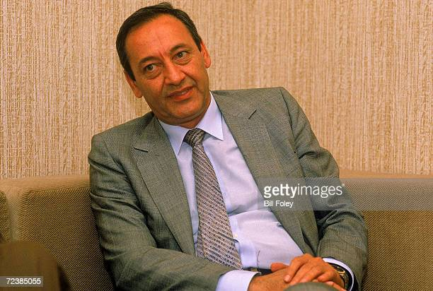 Shiite moslem leader minister of State for Southern Lebanon Nabih Berri at home