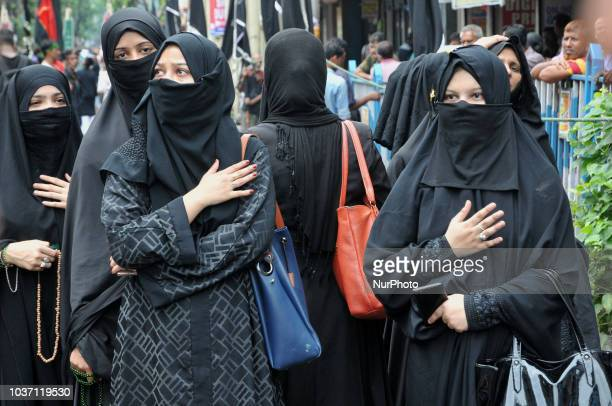 An Indian muslims carry ' Tazia's ' as they take part in a Muharram procession at walled city of Jaipur RajasthanIndia Sept 212018During the first...