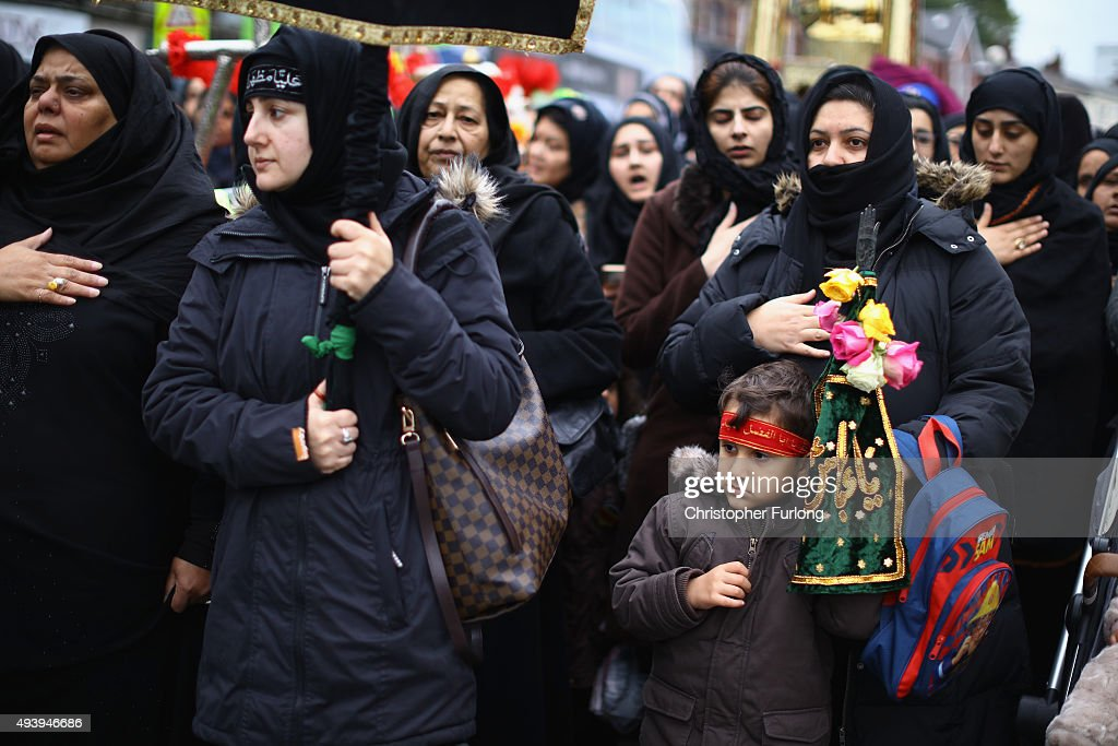 Shia Muslims Of Manchester Participate In An Ashura Procession : News Photo