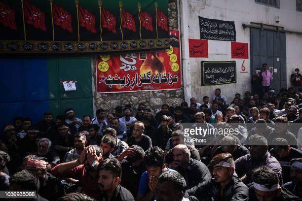 Shiite Muslims praying during the annual commemoration Ashura in Pireaus 20 September 2018 Hundreds of Shiite Muslims gathered in Piraeus to...