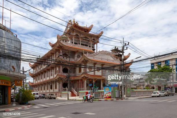 shijiazhuang tempel in hat yai - gwengoat stockfoto's en -beelden