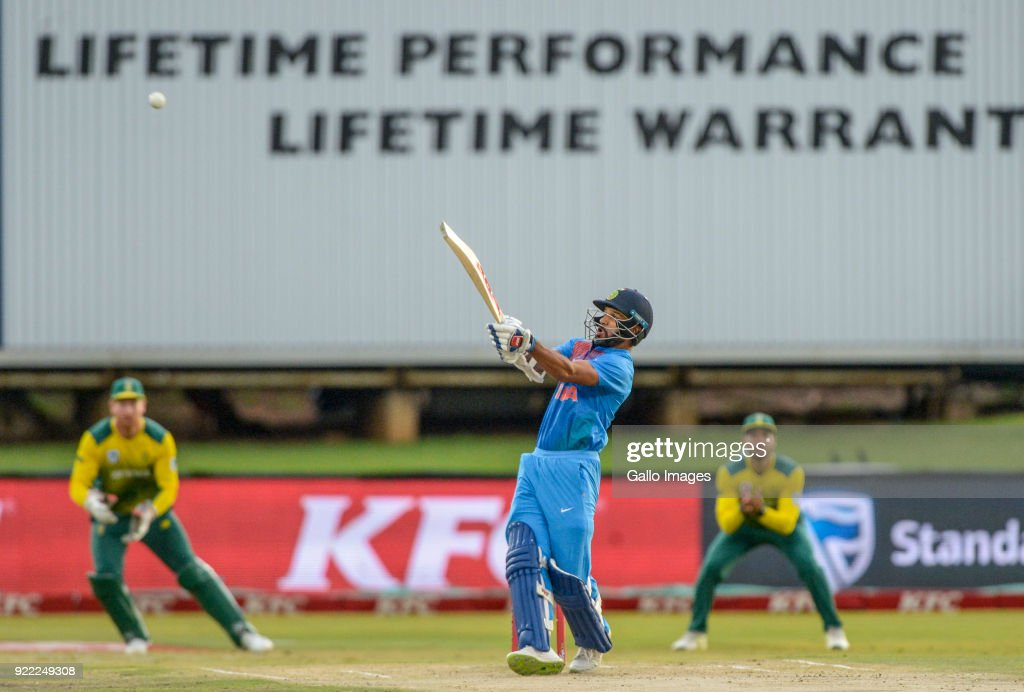 Shikar Dhawan of India during the 2nd KFC T20 International match between South Africa and India at SuperSport Park on February 21, 2018 in Pretoria, South Africa.