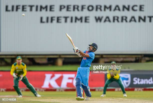 Shikar Dhawan of India during the 2nd KFC T20 International match between South Africa and India at SuperSport Park on February 21 2018 in Pretoria...