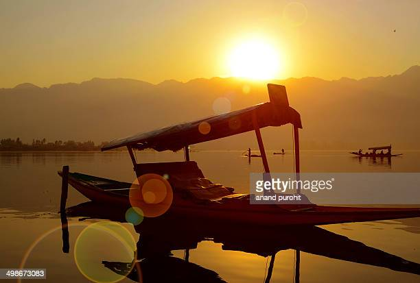 Shikara Waiting at Dal Lake