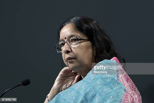 Shikha Sharma managing director and chief executive officer of Axis Bank Ltd attends the World Economic Forum India Economic Summit in New Delhi...