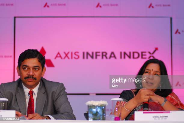 Shikha Sharma MD CEO of Axis Bank photographed with Srinivasan Varadarajan ED Corporate bankingAxis Bank